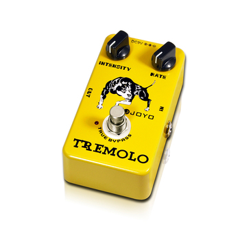 Joyo JF-09 Tremolo Guitar Pedal Stompbox Of Classic Tube Amplifiers Intensity&rate knob Tone And Vibe Adjust Easily