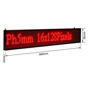 Image 5 - 26 zoll P5 SMD LED ZEICHEN Rotes Scrollen Werbung Nachricht Led anzeige Bord