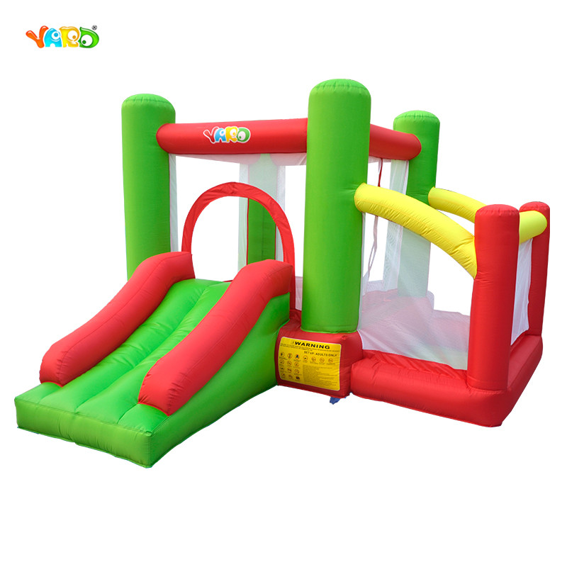 YARD Residential Inflatable Bounce House Combo Slide Bouncy with Ball Pool for Kids Amusement children shark blue inflatable water slide with blower for pool