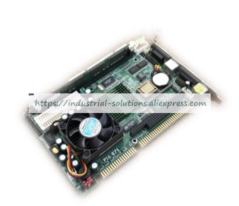 PIA-671 half-length card PIA-671DV-2 industrial motherboard with CPU&fan 100% tested perfect quality sbc8252 long industrial motherboard cpu card p3 long tested good working perfec