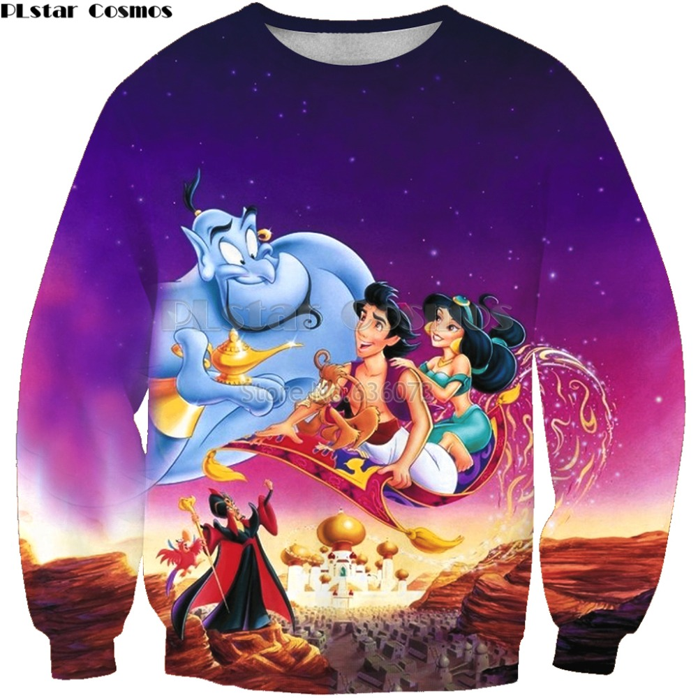 PLstar Cosmos 2019 New Style Fashion Men 3d Sweatshirt Magic Lamp Anime Print Unisex Casual O-Neck Long Sleeve Sweatshirts