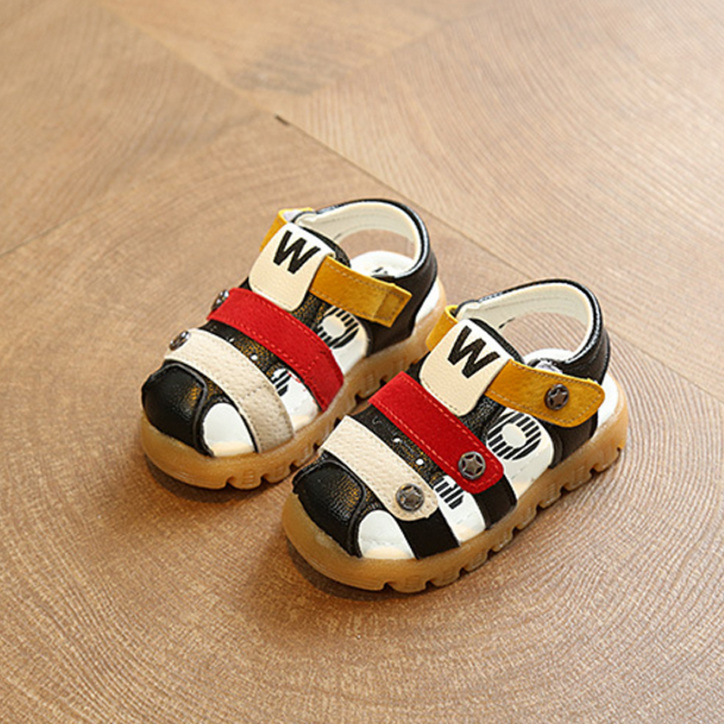 2018 New Summer Baby Boys Girls Beach Sandals Children Fashion Antislip Letter Soft Sandals Flats Kids Toddler Shoes Size 15-30