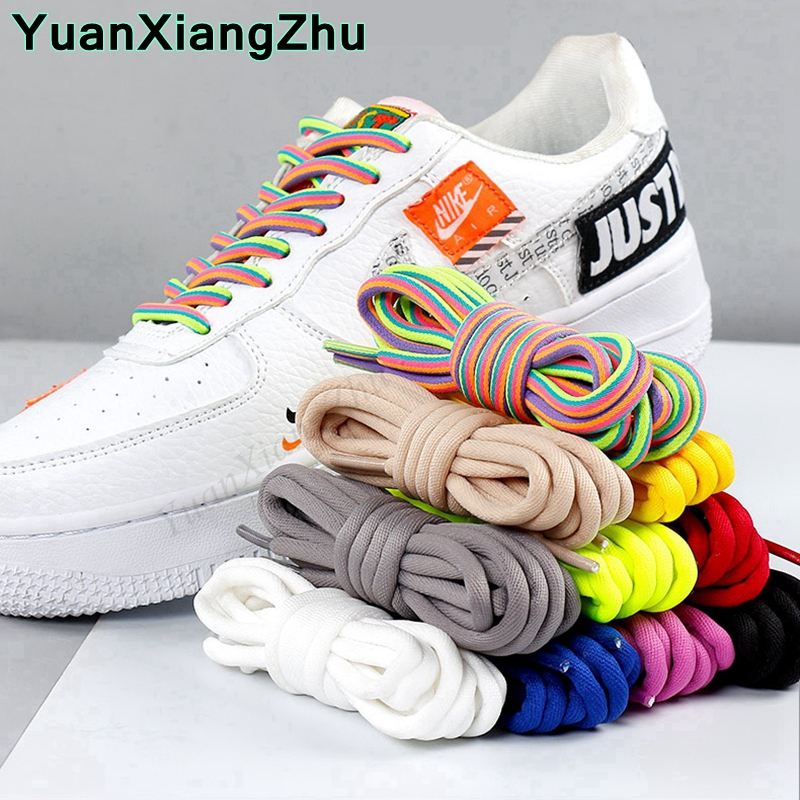 New Round Shoelaces Rainbow Solid Classic Martin Boot Shoelace Casual Sports Boots Shoes Lace Sneaker Shoe Laces Strings