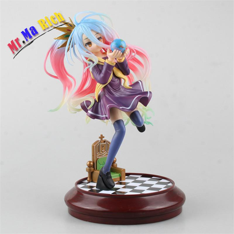 No Game No Life Imanity Shiro 1/7 Scale Painted Sexy Figure Pvc Action Figure Collection Model Kids Toys 22cm 20cm anime life no game no life shiro game of life painted second generation game of life 1 7 scale pvc action figure model