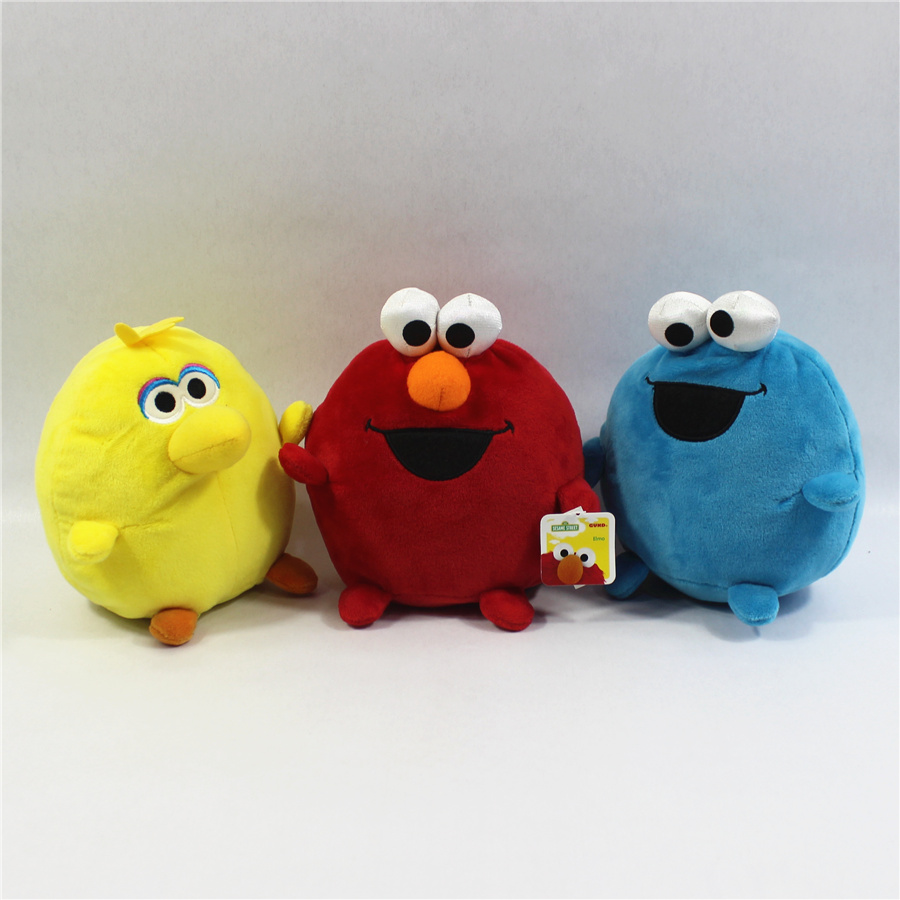 Us 16 12 38 Off 3pcs Lot 15cm 5 9inch Sesame Street Elmo Big Bird Cookie Monster Stuffed Plush Soft Toys Sesame Street Kids Soft Toys Set In Movies