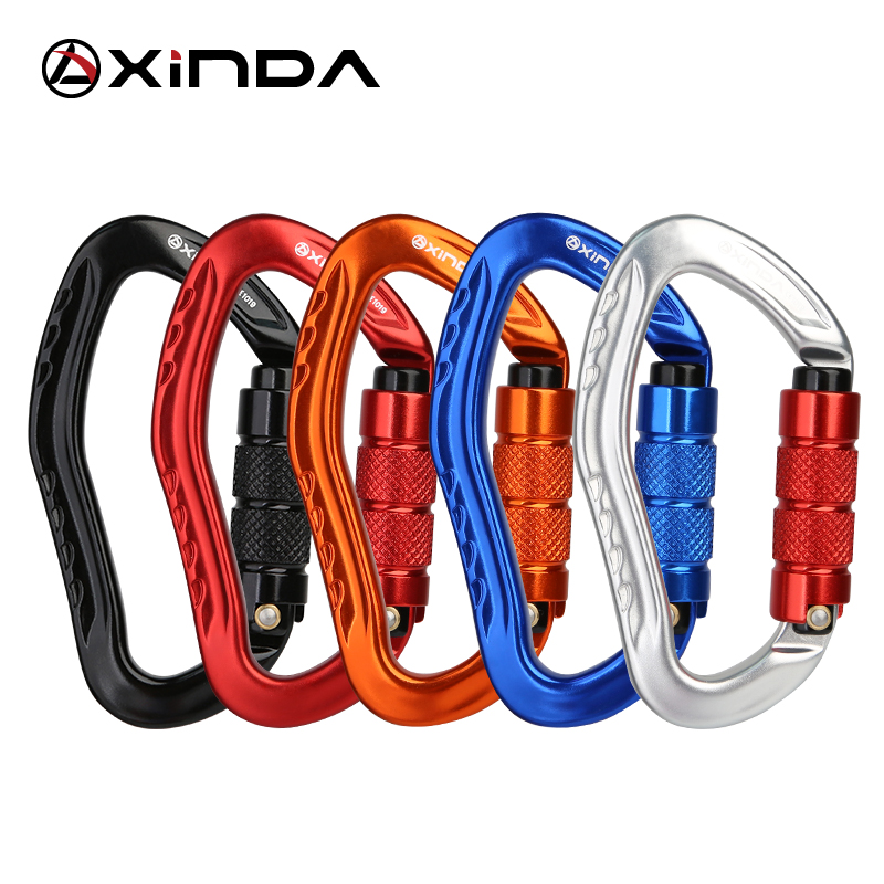 Image 5 - XINDA Professional Rock Climbing Carabiner 22KN Safety Pear shape Safety Buckle Hiking Survival Kit Protective Equipment-in Climbing Accessories from Sports & Entertainment