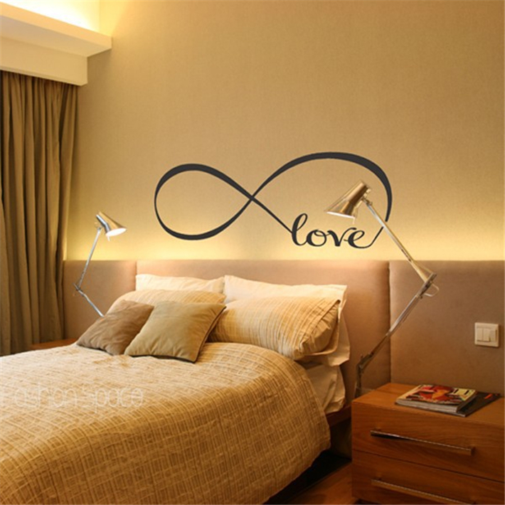 Free Shipping Personalized Infinity Symbol Bedroom Wallpaper Decals Love Quotes Painting Wall Art Decor Stickers In From Home