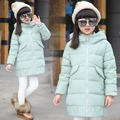 Girls 2016 new long section Duck down jacket girl thickening warm Down coat Children Casual Down & Parkas