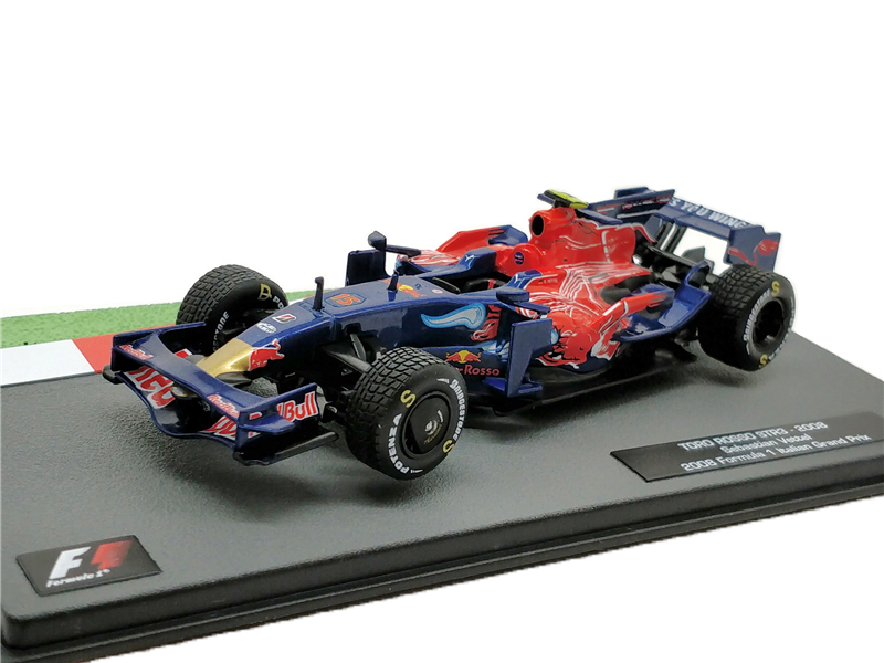 1:43 F1 Racing TORD ROSSO STR3 2008 No15 Vettel Formula One Racing Diecast Model Car Miniature Vehicle ixo 1 43 courage oreca lc70 racing mansle michelin racing car model