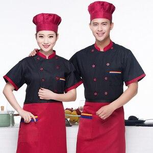 Image 4 - Männer Lange ärmeln Chef Jacke Hotel Service Arbeiten Tragen Restaurant Küche Arbeit Werkzeug Chef Uniform Kochen Kleidung Frauen 89