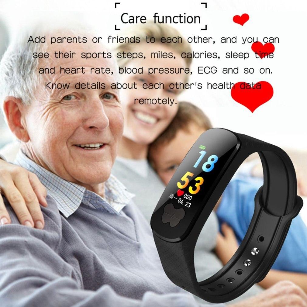 B37 montre intelligente couleur écran étanche ECG + PPG moniteur de fréquence cardiaque SportTracker Bluetooth Bracelet Bracelet pour IOS Android hommes - 3