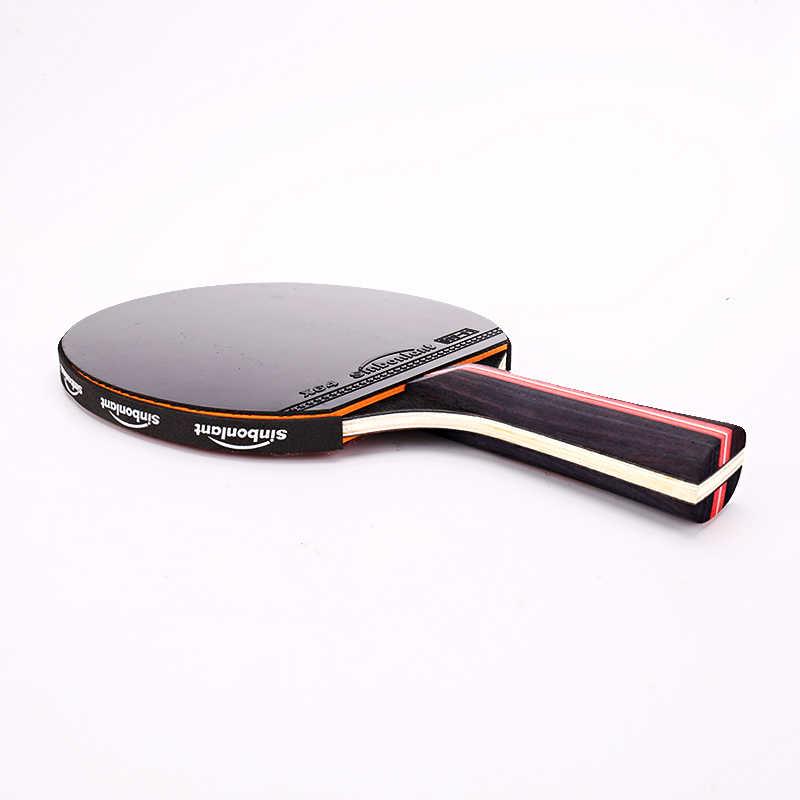 Tenis raqueta de ping pong de mango largo mango corto de carbono hoja de goma con doble cara granos en ping pong raqueta con el caso
