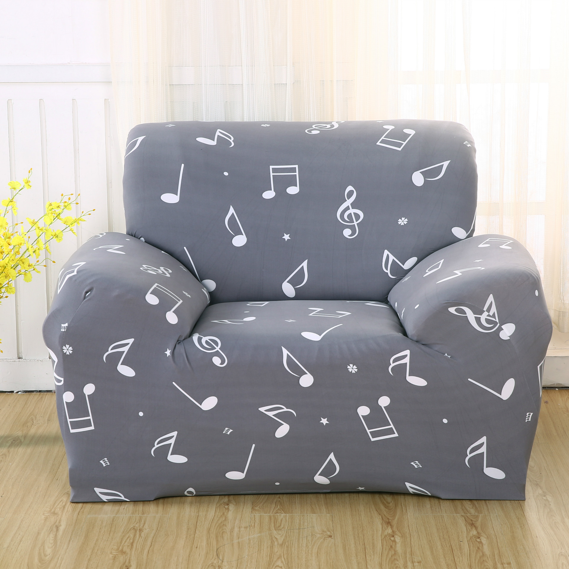Modern Music Drawing Room Decorate Anti Mite Sofa Cover Big Elasticity Flexible  Couch Cover Loveseat Machine
