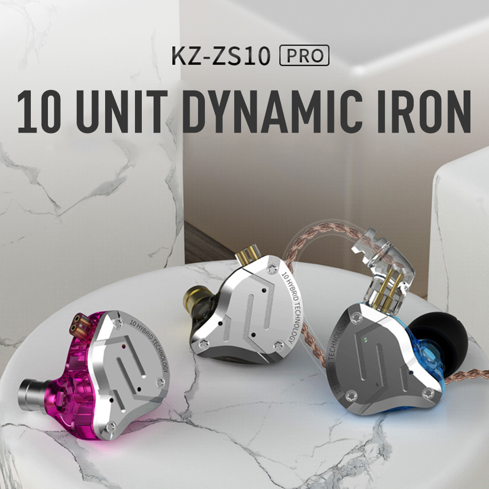 KZ-ZS10 pro 10 Unit Ring Iron Hybrid Drive Earphone Moving Iron Earbuds In-Ear professional-grade Mobile Phone Universal HedsetKZ-ZS10 pro 10 Unit Ring Iron Hybrid Drive Earphone Moving Iron Earbuds In-Ear professional-grade Mobile Phone Universal Hedset