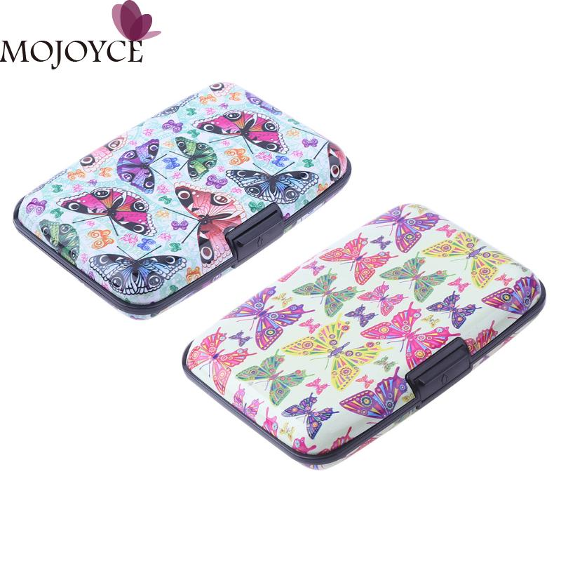 7 Pocket Women Card Holder Aluminum Waterproof Name Card Box Holder Credit Card Case Business CardS Holder Wallet for Female New mini code case style name card holder box silver