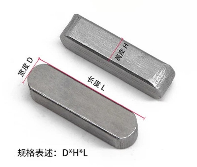 100 Pcs 3*3*8mm 304 Stainless Steel square Solid Straight Retaining Dowel Pins Fasten Elements
