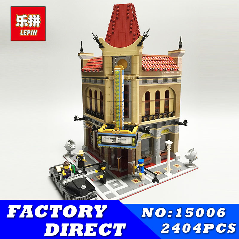 LEPIN 15006 2354Pcs Palace Cinema Model Building Blocks Classic Model City Street Creator Series Compatible 10232 Toys Christmas lepin 15018 3196pcs creator city series sunshine hotel model building kits brick toy compatible christmas gifts