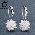 New 2017 Ice flower Earrings From Swarovski cube Crystals for Women Luxury Chandelier Wedding Jewelry