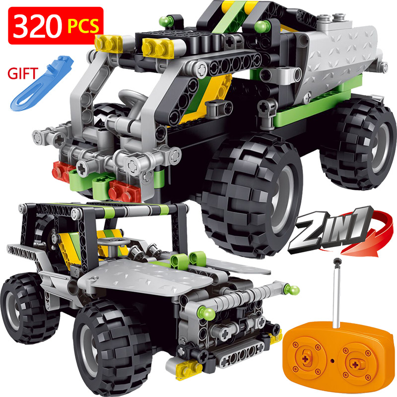 Variab Technik RC Car Radio Control Blocks Compatible LegoINGLYS Technical Vehicle Green SUV Assembled Blocks Children Toys Gift 2 in 1 rc car compatible legoinglys radio technical vehicle green suv control blocks assembled blocks children toys gift