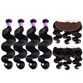 Mink Brazilian Virgin Hair Body Wave With Frontal Closure Bundle Ms Lula Hair With Frontal And Bundles 3 Bundles With Frontal