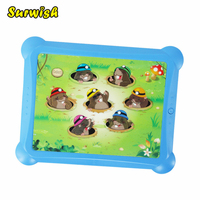 Kids Electronic Whac A Mole Game Board Light Weight Musical Play Game Blue Frame