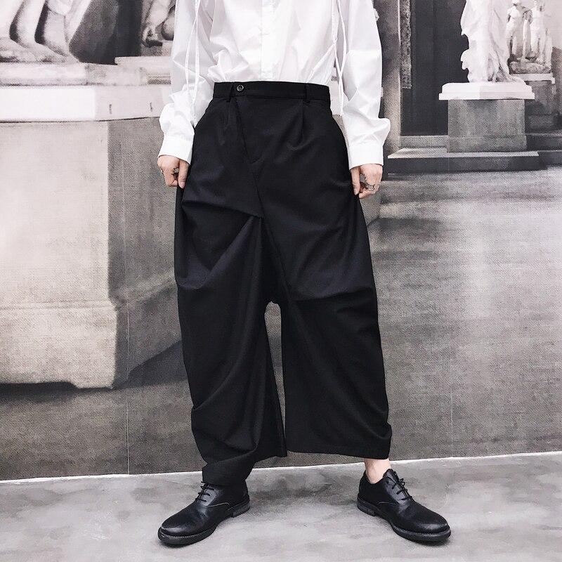 Spring Men Dress Pants Loose Owen Gothic Casual Black Ro High Streetwear Fashion Harem Pants Japan Style