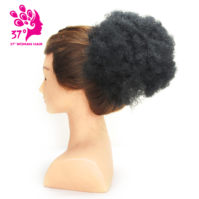 Dream ice s Synthetic hair Curly Chignon Bun Hairpiece Clip In Natural Color Low Temperature Fiber