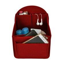 Купить с кэшбэком 2019 Women Cosmetic Bag Felt Cloth Makeup Bag Organizer Insert Travel Organizer Bag Makeup Case Multifunction Storage Organizer