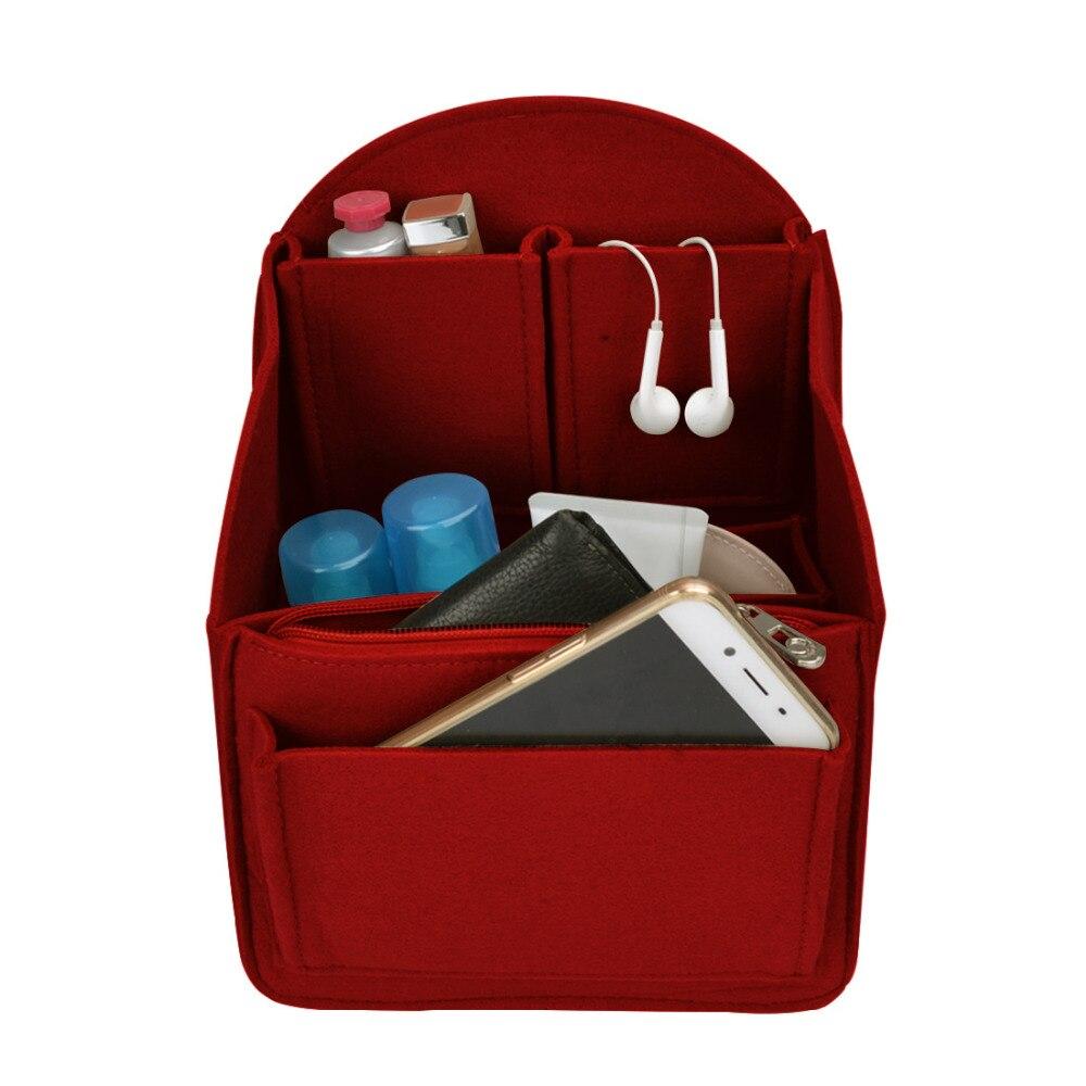 2019 Women Cosmetic Bag Felt Cloth Makeup Bag Organizer Insert Travel Organizer Bag Makeup Case Multifunction Storage Organizer