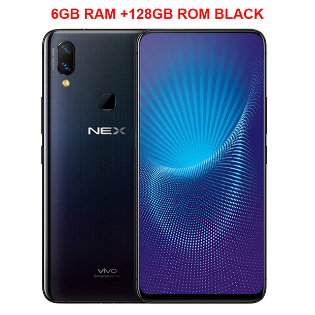 Original Vivo Nex Mobile Phone Full Screen 6.59'' 6 Gb Ram 128 Gb Rom Snapdragon 710 Android 8.1 Dual Rear Camrea 24+5 Mp Cellphone by Vivo
