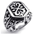 Punk Thor Hammer Black Silver Tone 316L Stainless Steel Ring Boys Mens Ring New