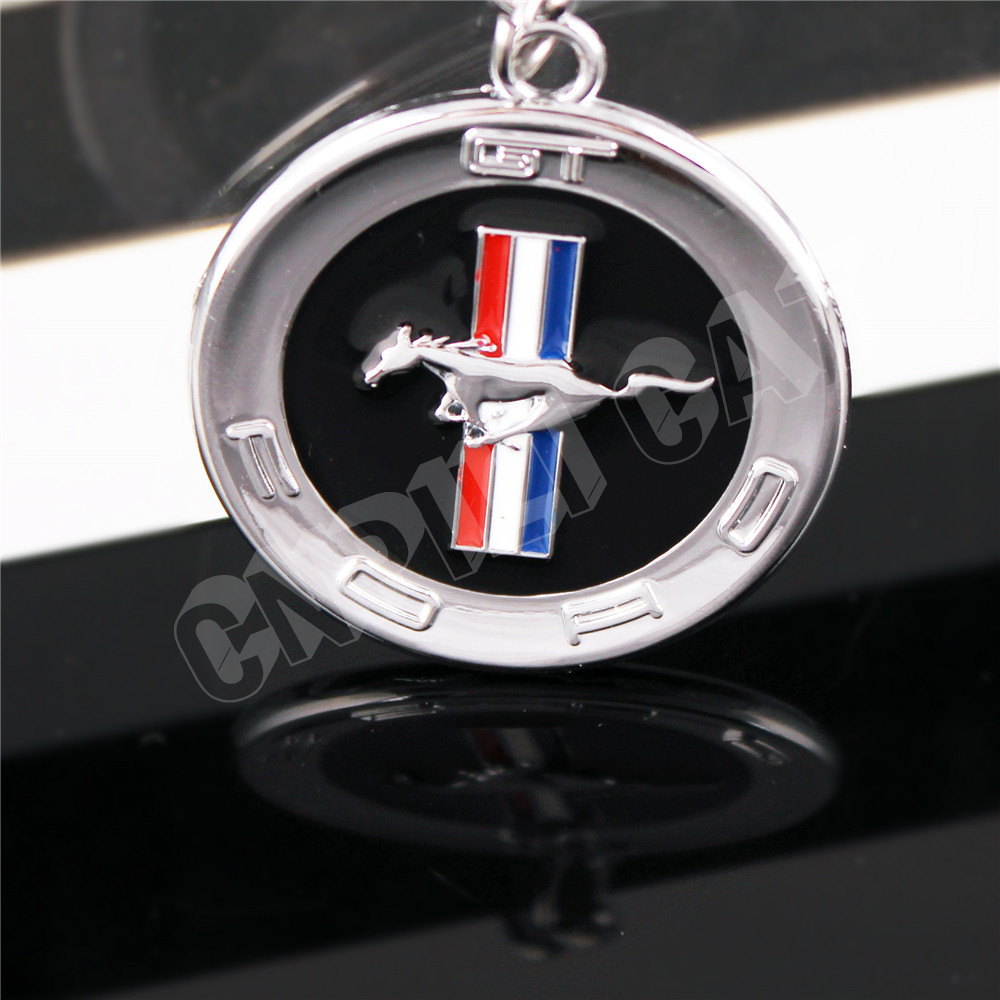 D Horse Logo Car Key Ring Chain Keychain Gift For Ford Mustang Shelby Gt Silver In Key Rings From Automobiles Motorcycles On Aliexpress Com Alibaba