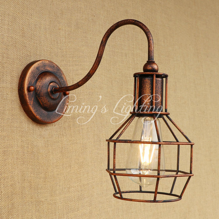 Industrial Loft Style Vintage Wall Lamp Iron Bedside Wall Light Fixtures Living Room Stairs Edison Wall Sconce Indoor Lighting стоимость