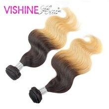 Popular 2Pcs Rosa Ombre Brazilian Virgin Body Wave 613 Ombre Hair Weave Cheap Rosa Hair Ombre Brazilian Hair Extension