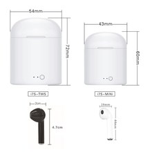 i7 mini i7s TWS Wireless Bluetooth Earphones Earbuds Earpieces For iPhone 7 8 X Xiaomi Redmi 5 6 A Samsung S8 S9 Note 9