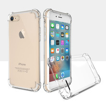 High quality Luxury Shockproof Case For iPhone 7 6 6S Plus 5s SE Soft Clear Protector Cover For iPhone 6 7 plus 6S 5S Phone Case