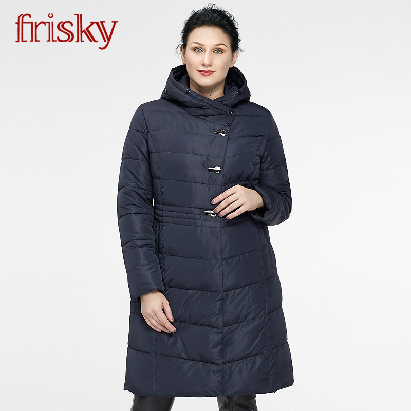 Frisky Female Winter Brand coat women Casual Jacket Thick 2018 Down Jacket Parka Woman HighQuality Plus Size ukrain new FR-5399