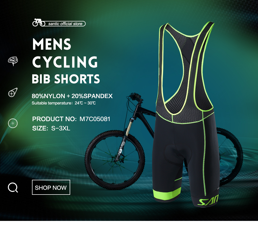 Santic Men Summer Bib Shorts Cycling Jersey Shorts Cool max Italian Cushion S-3XL M7C05081 s cool шарф для мальчика s cool