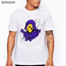 funny tshirts camisetas hombre Skeletor's Cat cartoon printed t-shirt men camisetas hombre harajuku shirt men tumblr tops tee цена и фото