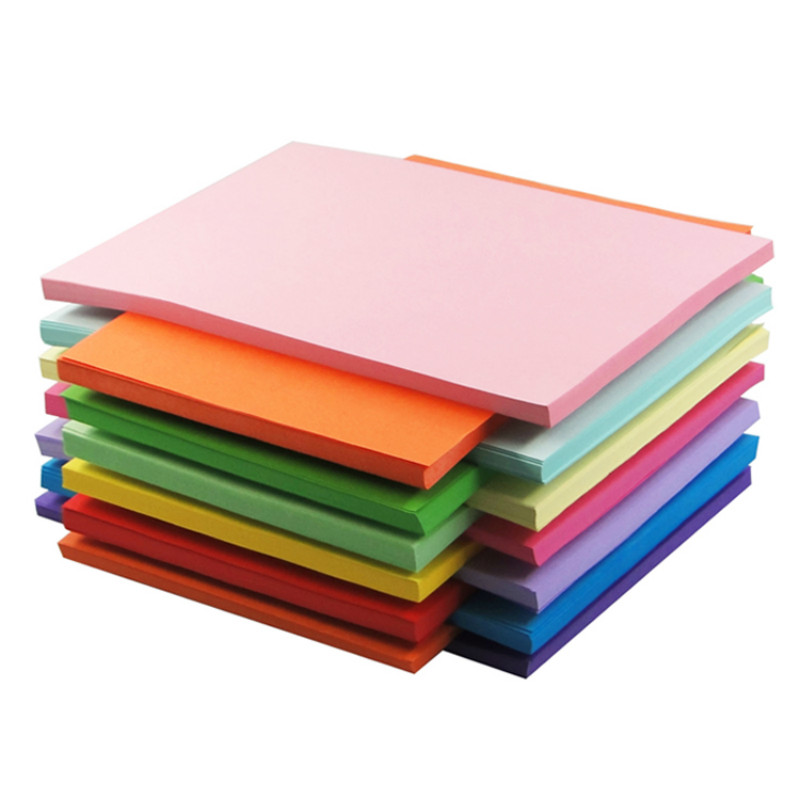 DELI Colored Copy Paper A4 80g 100 Sheets Copy Paper Kids Handmade Origami Paper Double Sided Colored Paper School Office Supply