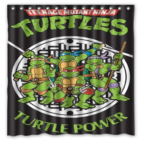Teenage Mutant Ninja Turtles Printing Waterproof Shower Curtain 100 Mildewproof Polyester Fabric Bath Curtains 72x72inch With In From Home