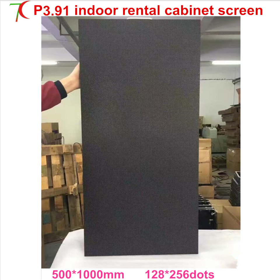 Beautiful 500*1000mm P3.91 Indoor Rental Aluminum Cabinet Display Screen For Stage Rental Business,smd2121