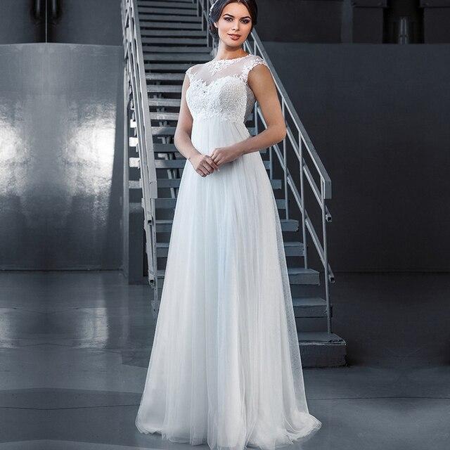 vestido de novia 2017 de marfil de encaje de maternidad para