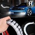 2X super pó Decorativa Auto Carro Flexível Tira CONDUZIDA HighPower 12 V Carro LEVOU Luz de Circulação Diurna Carro LEVOU Luz de Tira DRL
