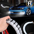 2X super powder  Car Auto Decorative Flexible LED Strip HighPower 12V  Car LED Daytime Running Light Car LED Strip Light DRL