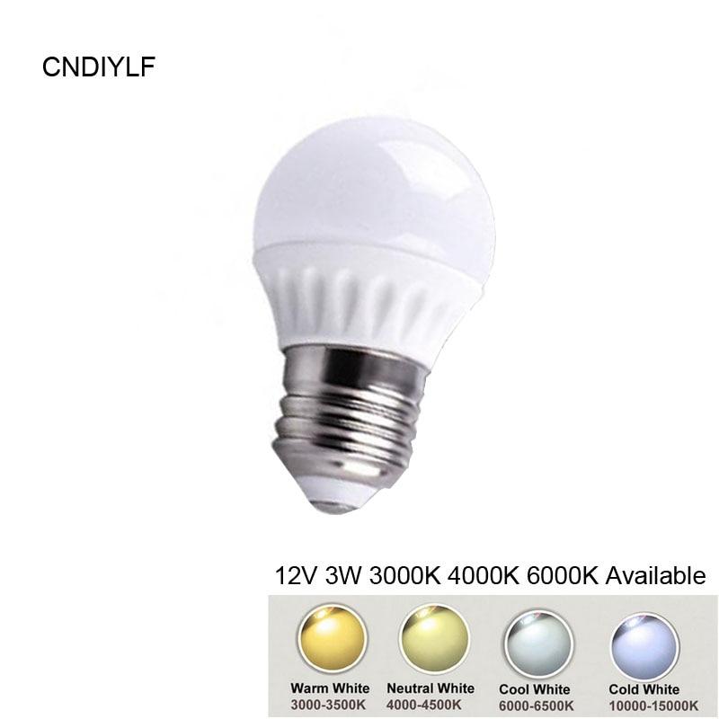 Ceramic 3W E27 12 Volt  LED Bulb AC/DC 12V 3000K  6000K Fast Free Shipping 6es7284 3bd23 0xb0 em 284 3bd23 0xb0 cpu284 3r ac dc rly compatible simatic s7 200 plc module fast shipping