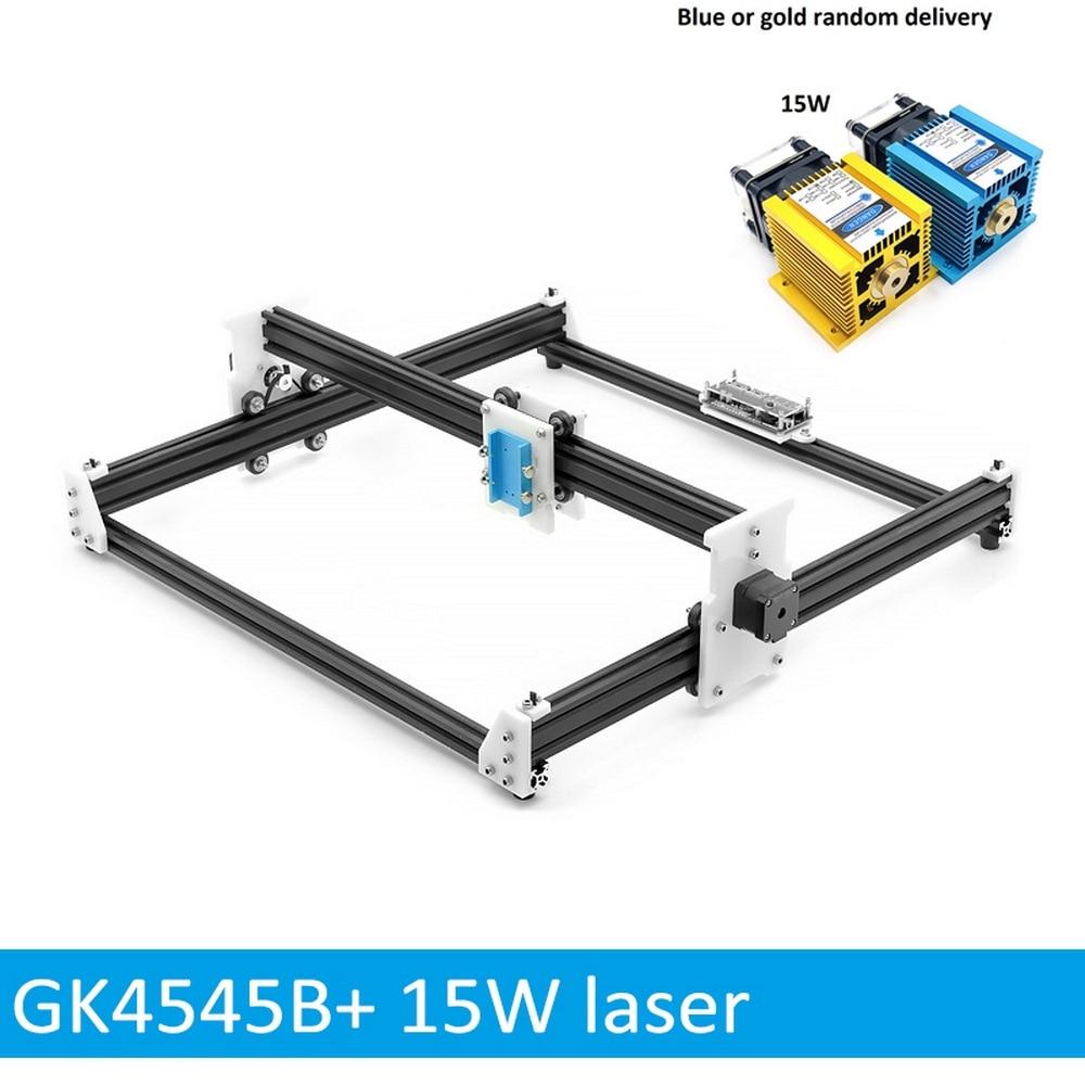 W Madeira Carving Máquina A Laser Cortador de 15 45*45 centímetros Gravador 5500 MW Router De Madeira DIY Mini Impressora CNC PWM, benbox GRBL EleksMaker