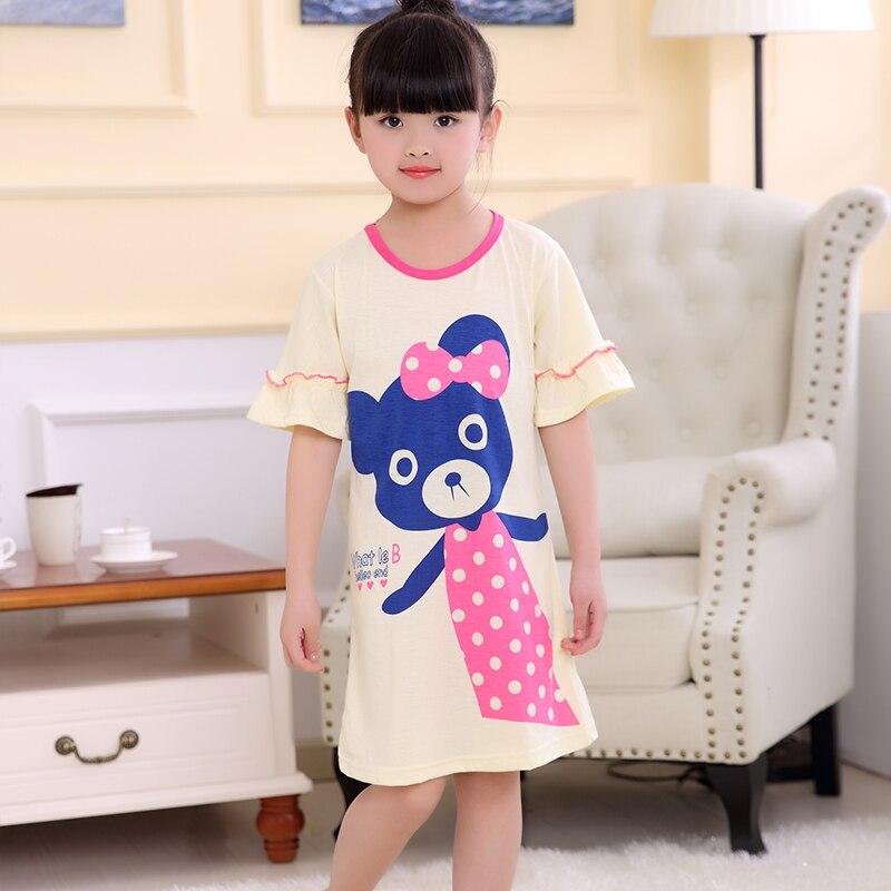 Clever Mode Mädchen Nachthemd Neue 2019 Sommer Prinzessin Cartoon Kleider Kinder Sleepdress Baumwolle Mädchen Kleid Kinder Rüschen Nachthemden ZuverläSsige Leistung