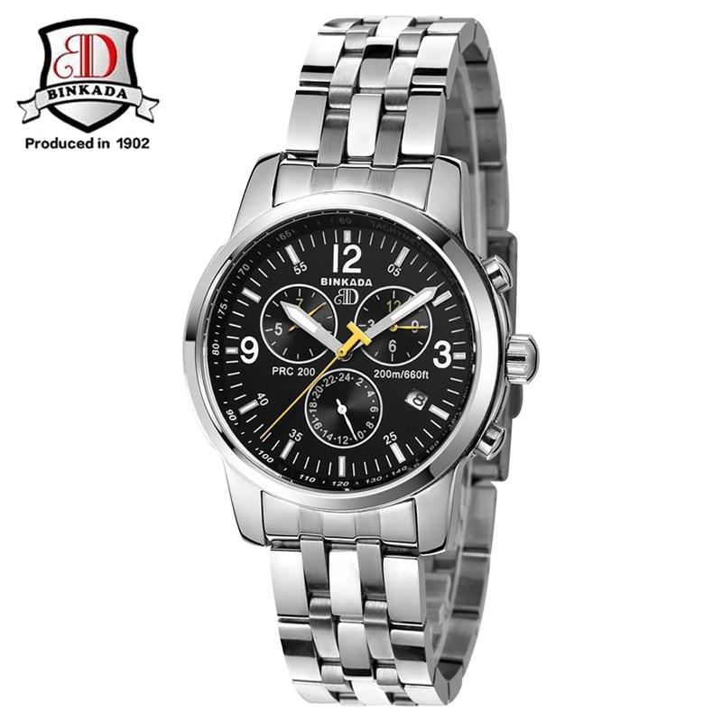 ФОТО 2017 Original BINKADA Men Mechanical Watches Men Luxury Brand Full Steel Waterproof 50m Business Automatic Wristwatches For Men