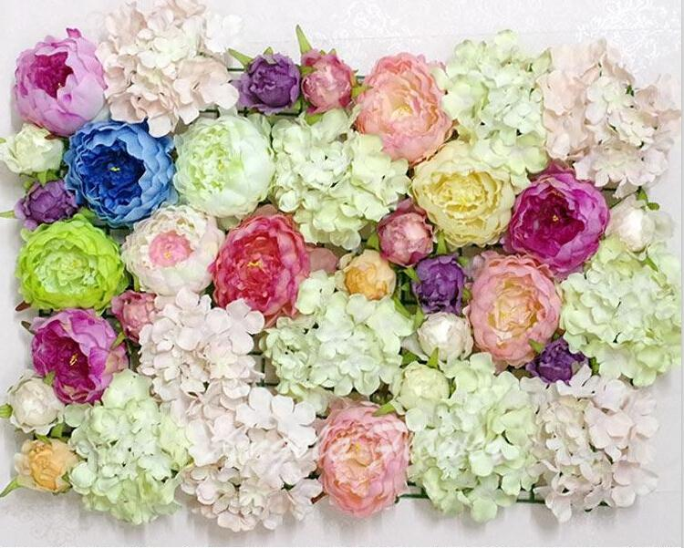 DIY artificial peony flower heads silk decorative flower DIY Road ...